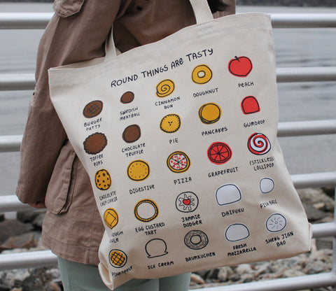 Round Things Are Tasty - Tote Bag by Roboppy