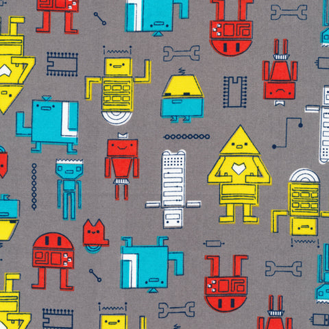 Robotic - Cosmic Convoy - Cloud9 Organic Cotton Fabric