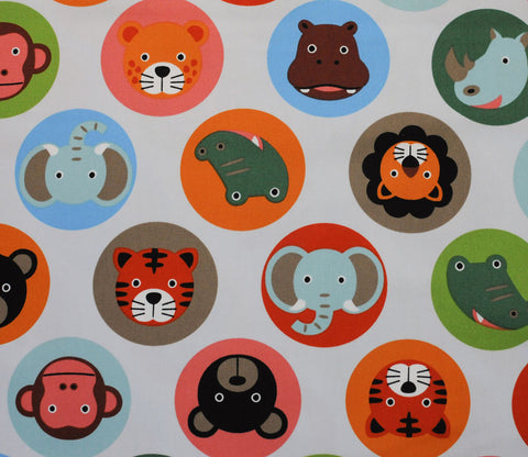 Safari Animal Circles - Bright Colors on Grey - Kiyohara