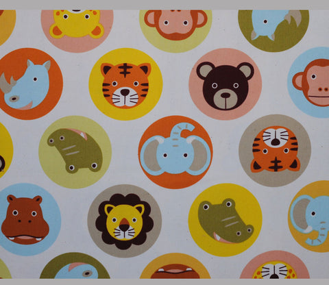 Safari Animal Circles - Natural Colors - Kiyohara