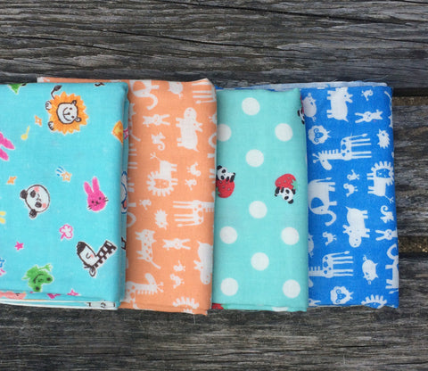 Zoo Animals Double Gauze Fabric Bundle