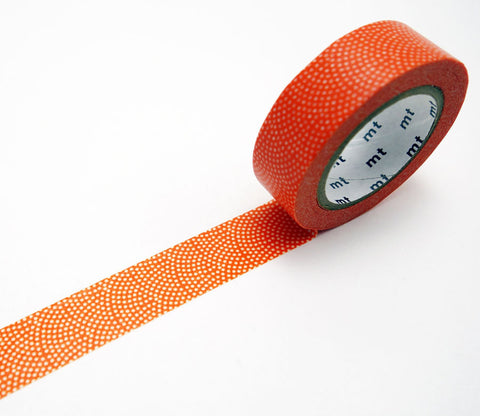 Sharkskin Kaki (Persimmon Orange) Dots Washi Tape