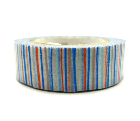 Shima Ao (Blue Multi-Stripe) Washi Tape