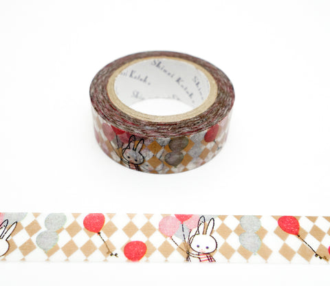 Balloon Rabbit - Shinzi Katoh Japanese Washi Tape