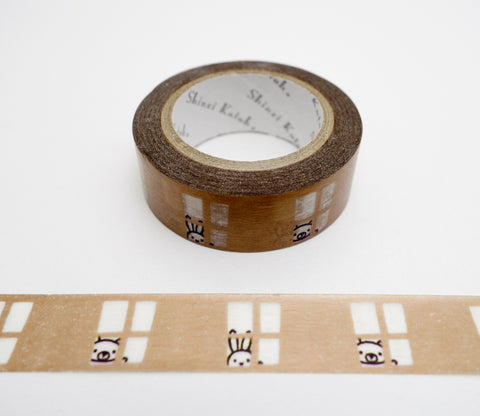 Bear and Rabbit - Shinzi Katoh Japanese Washi Tape