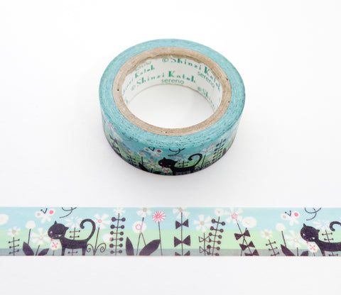 Cat Flower - Shinzi Katoh Japanese Washi Tape