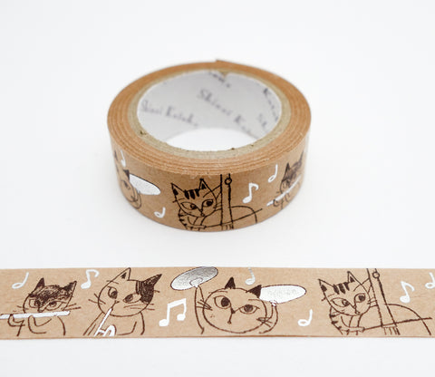 Cat Orchestra - Shinzi Katoh Japanese Kraft Tape