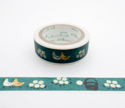 Little Flowers and Birds - Shinzi Katoh Japanese Washi Tape