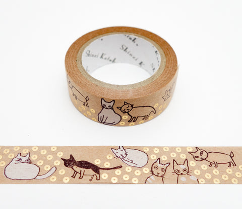 Ordinary Cats - Shinzi Katoh Japanese Kraft Tape