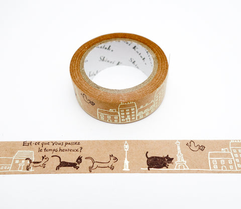 Paris Cats - Shinzi Katoh Japanese Kraft Tape