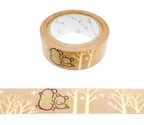 Sorabear Forest - Shinzi Katoh Japanese Kraft Tape