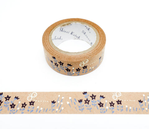Sweet Scent - Butterflies and Flowers - Shinzi Katoh Kraft Tape