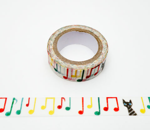 Cat Toccata - Shinzi Katoh Japanese Washi Tape
