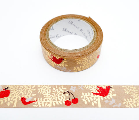 Trees and Birds - Shinzi Katoh Japanese Kraft Tape