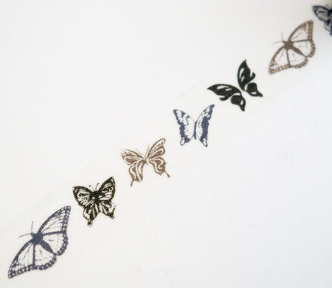 Gold Silver Butterfly Washi Tape