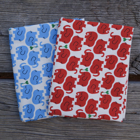 Sleepy Elephants - Mini Fat Quarter Fabric Bundle