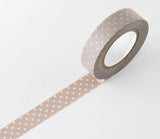 Grey/Brown Patterns (Stripes - Dots - Gingham) Japanese Washi Tape Set