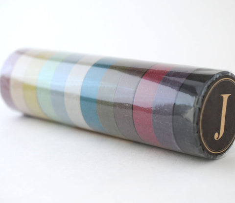 Smoke Multi-colored Set - Japanese Washi Tape