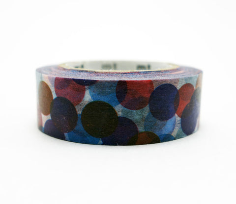 Spot Blue (Multi-Color) Washi Tape