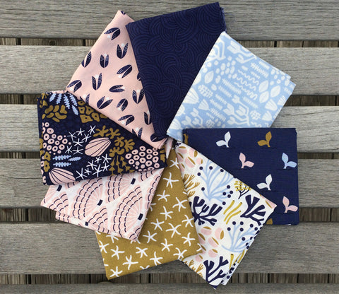 Underwater - Elizabeth Olwen - Complete Fat Quarter Bundle - Cloud9 Organic Fabric
