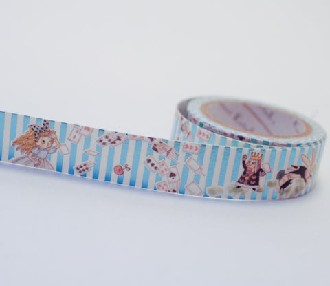 Fantasy Alice in Wonderland - Shinzi Katoh Blue Foil Washi Tape