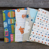 Warm Colors - Orange and Blue - Fat Quarter Fabric Bundle