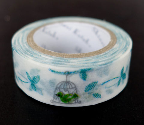 Green Bird - Shinzi Katoh Washi Tape