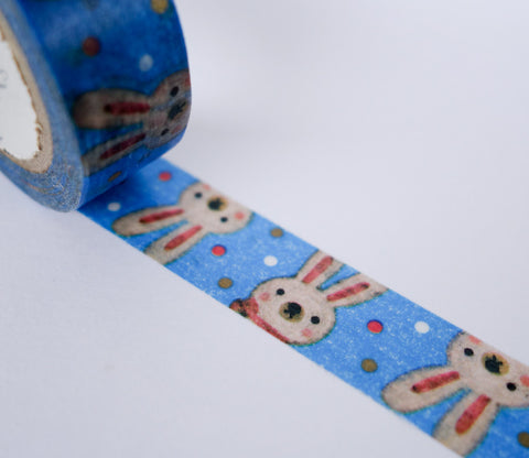 Flossy Bunny Rabbit - Shinzi Katoh Washi Tape
