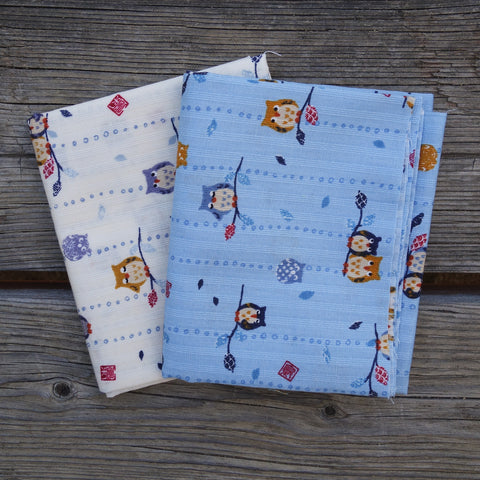 Westex Owls - Japanese Dobby Cotton Mini Fat Quarter Bundle