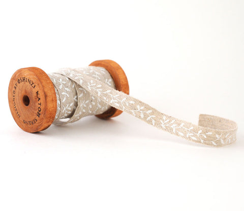 White Wood - Shinzi Katoh Linen Tape 12mm