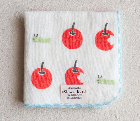 Apple & Worm Small Towel - Shinzi Katoh