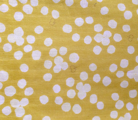 Butterflies and Dots - Yellow - Japanese Double Gauze Fabric