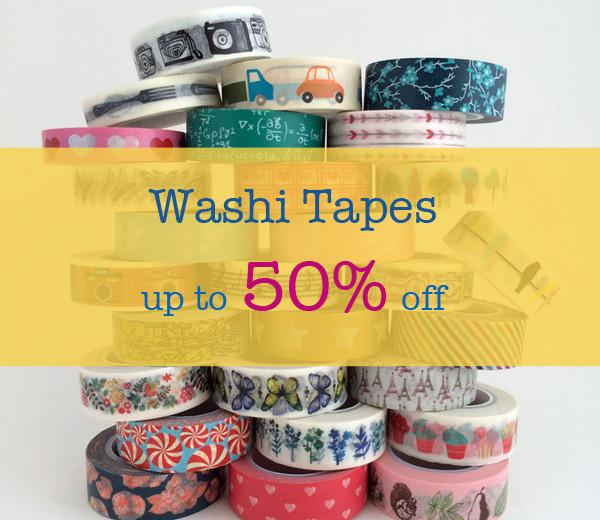Save up to 50% off Washi Tapes