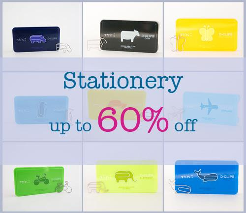 Save up to 60% off stationery