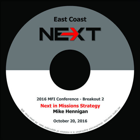 2016 MFI East Coast - Breakout 2 - Mike Hennigan