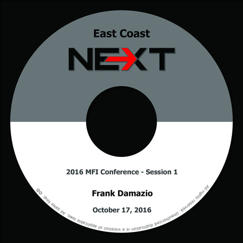 2016 MFI East Coast - Session 1 - Frank Damazio