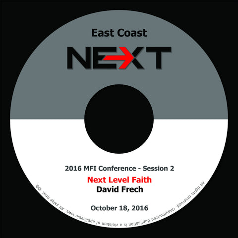 2016 MFI East Coast - Session 2 - David Frech