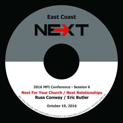2016 MFI East Coast - Session 6 - Russ Conway/Eric Butler