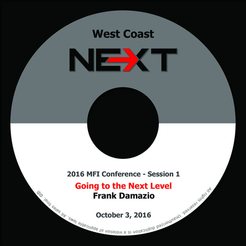 2016 MFI West Coast - Session 1 - Frank Damazio