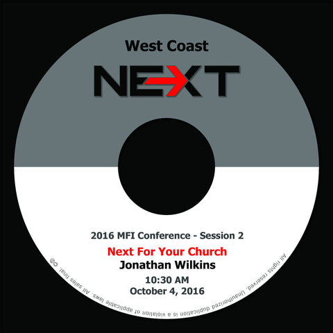 2016 MFI West Coast - Session 2 - Jonathan Wilkins