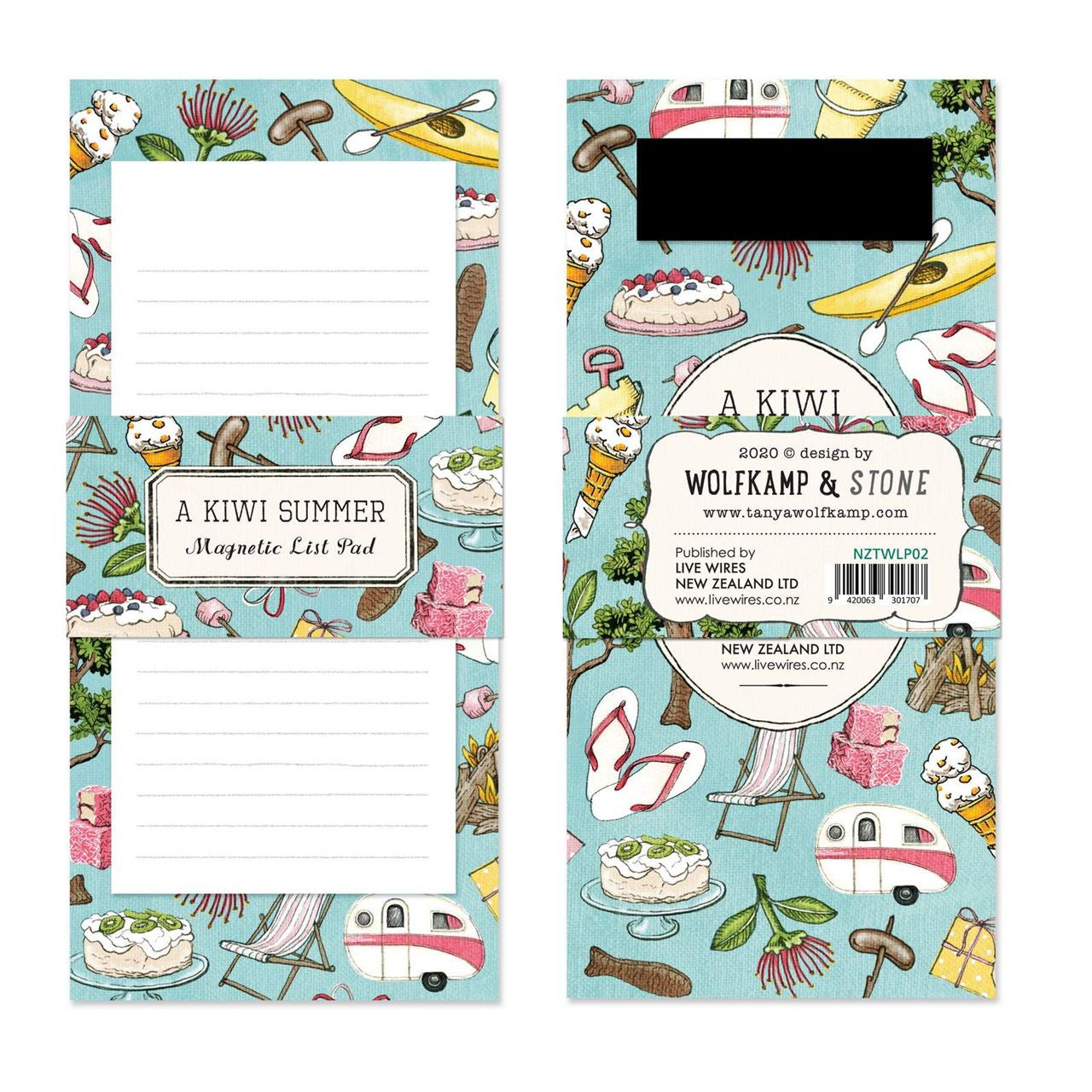 Magnetic notepad - Kiwi Summer