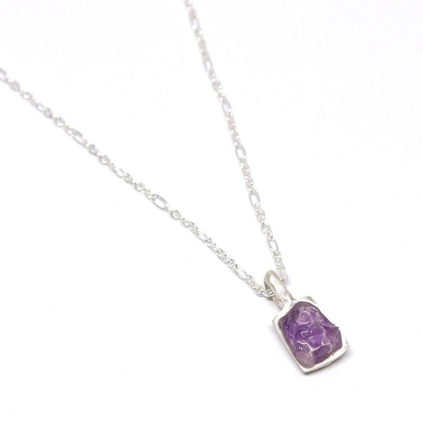 Amethyst rectangle pendant - small