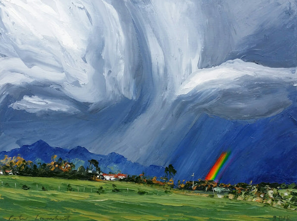 Kaitake Ranges, Rainfront and Rainbow