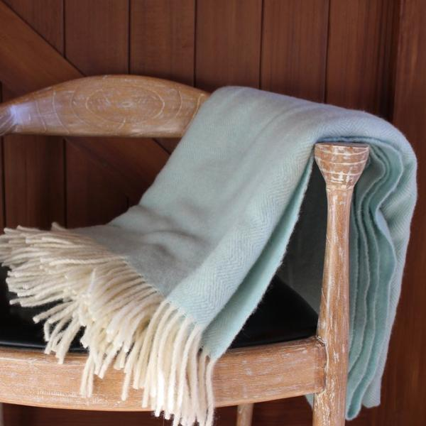 Duck Egg Lambs Wool Blanket