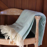 Duck egg wool blanket