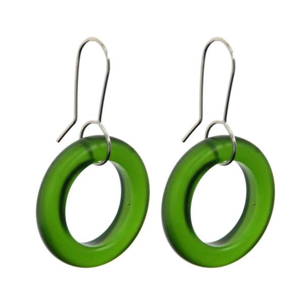 Small hoops - green