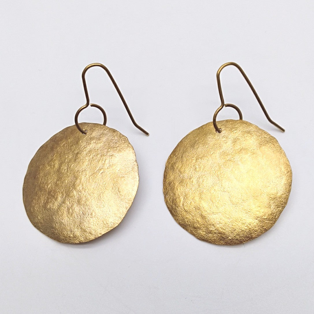 20ct gold plate circles earrings