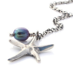 Small silver starfish necklace