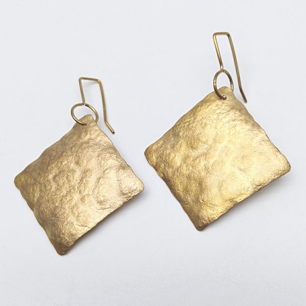 20ct gold plate squares earrings