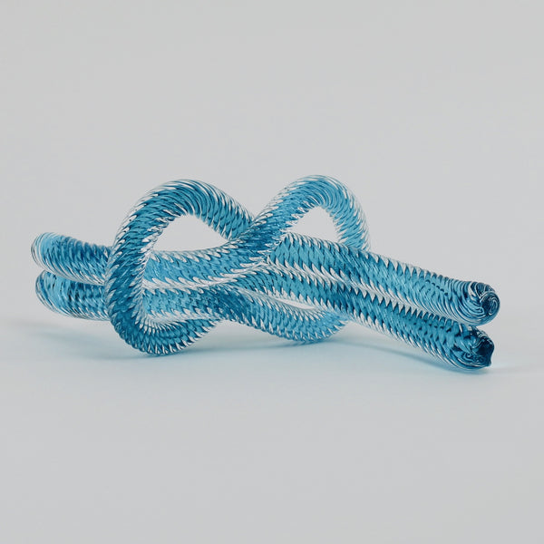 Glass knot - aqua